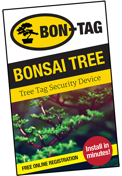 BON-TAG is the world's first Bonsai Tree Security Device